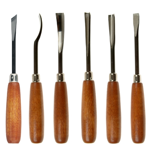 Wood carving hand tools set