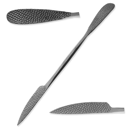 "Italian Hand-Cut Stone/Wood Carving Rasp - 10"" - No. A325"