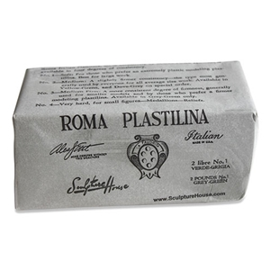 ROMA Plastilina - Grey-Green - No. 1 - Soft - 2 lbs.