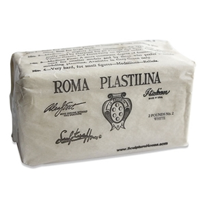 ROMA Plastilina - White - No. 2 - Medium - 2 lbs.