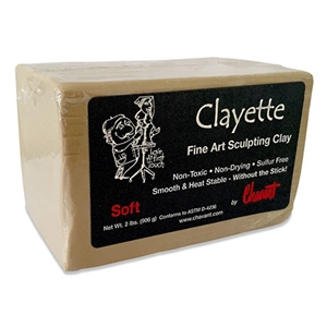 Chavant Clayette Fine Art Sculpting Clay - Soft - 2 lbs.