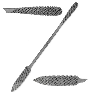 "Italian Hand-Cut Stone/Wood Carving Rasp - 8"" - No. A520"