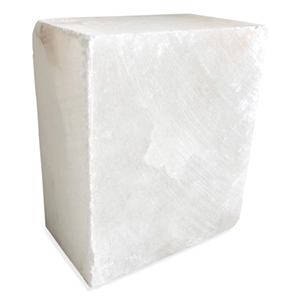 Translucent White Alabaster Block - Medium