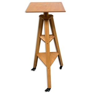 Cappelletto 3-Leg Wood Modeling Stand with Casters