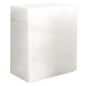 Opaque White Alabaster Block - 10 lbs.