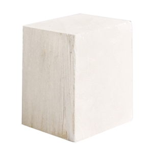 Opaque White Alabaster Block - 2 lbs.