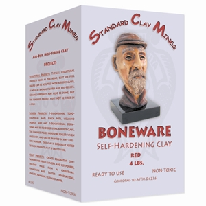 Boneware Self-Hardening Clay - Red - 4 lbs.
