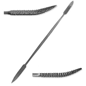 "Italian Steel 6"" Riffler-Rasp for Stone and Wood Carving - A1215"