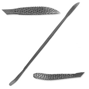 "Italian Steel 6"" Riffler-Rasp for Stone and Wood Carving - A5015"