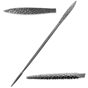 "Italian Steel 6"" Riffler-Rasp for Stone and Wood Carving - A5115"