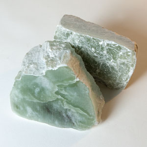 Lemon Green Soapstone  - 2-lb. Pieces - Set of 2