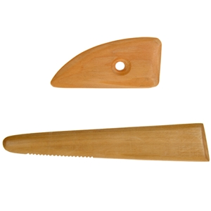 Wooden Potters Ribs - Set of 2 Ribs