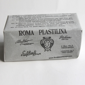 ROMA Plastilina, Grey-Green, No. 2, Medium, 2 lbs.