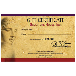 Sculpture House Gift Certificate - 25 Dollars